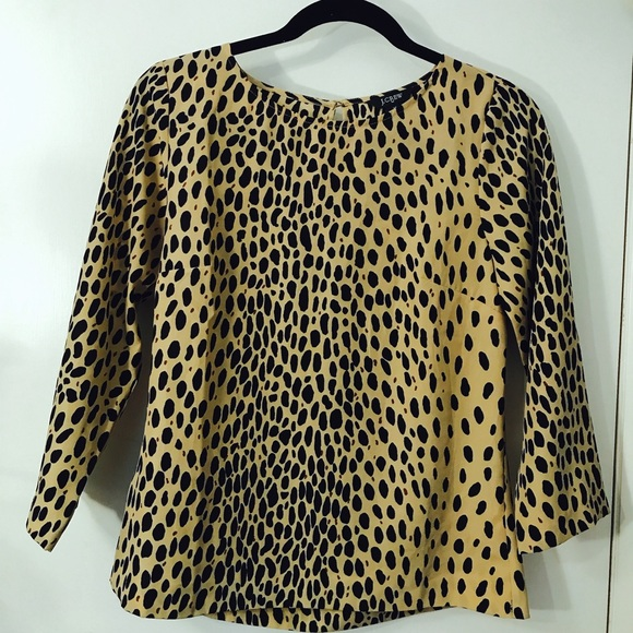J. Crew Tops - JCrew Cheetah Blouse